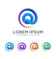 letter q multicolored concept design vector image vector image