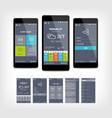 mobile app ui set modern design vector image vector image
