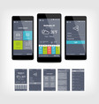 mobile app ui set of modern design vector image