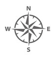 modern compass rose vector image