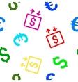 Money Elevator Seamless Flat Pattern vector image vector image
