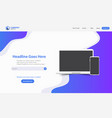 new trendy landing page website template design vector image