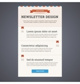 Newsletter template design with sign up button in vector image vector image