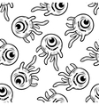 One eyed monster with tentacles seamless pattern vector image vector image