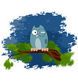 owl on the branch vector image vector image