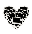 photos heart shape vector image vector image