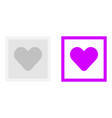 picture of the heart icon vector image vector image