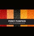polka dot pattern set perky pumpkin seamless vector image vector image