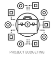 Project budgeting line infographic vector image vector image
