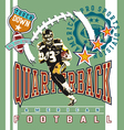 quarterback football vector image vector image