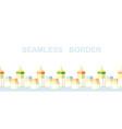 seamless bordermilk bottles and banksnutrilion vector image