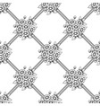 seamless daisy black lattice background vector image vector image