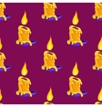 Seamless pattern with burning candle vector image vector image