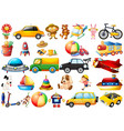 set childrens toys vector image vector image