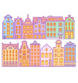set europe house or apartments cute vector image vector image