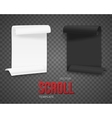 set folded black and white paper sheets vector image