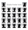 Set of silhouettes of avatar vector | Price: 1 Credit (USD $1)