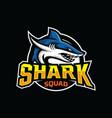 shark esport gaming mascot logo template vector image vector image