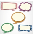 Speech bubbles scrapbook elements vector image vector image