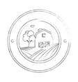 stable building seal stamp vector image vector image