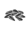 sunflower seeds glyph icon vector image