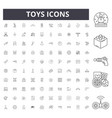 toys line icons signs set outline vector image vector image