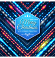 Typographic label for Merry Christmas and Happy vector image vector image