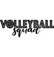 volleyball squad isolated on white background vector image