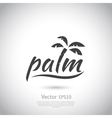 Water with palm logo for holiday business vector image vector image