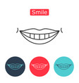white teeth smile icon vector image
