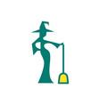 witch magic logo icon design vector image