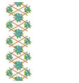 wooden lattice with color flowers vector image vector image