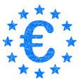 european union grunge icon vector image