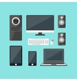 Cartoon Electronic Devices Set vector image