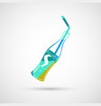 bottle of cola and straw vector image