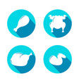a set of icons buttons in the form of fried vector image vector image