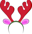 air of toy reindeer horns isolated on white vector image vector image