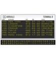 airport scoreboard digital led board font vector image