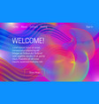 asbtract vibrant background design landing page vector image
