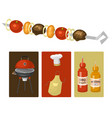 barbecue home cards or restaurant rarty dinner vector image