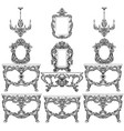 baroque furniture set with luxurious ornaments vector image vector image