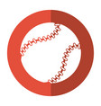 baseball ball sport game shadow vector image