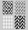 beautiful modern monochrome textile patterns vector image vector image