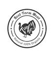 best farm meat premium quality retro poultry logo vector image vector image