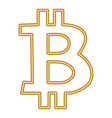 bitcoin symbol isolated on white background vector image vector image