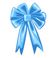 blue ribbon tied in a bowknot isolated on white vector image