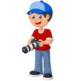 Boy Holding a Camera vector image
