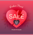 broken heart sale vector image vector image