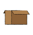 cardboard box icon open empty container carton vector image vector image