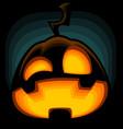cartoon halloween pumpkin silhouette mad laugh vector image vector image